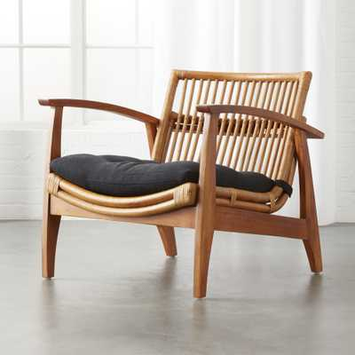 Noelie Rattan Lounge Chair with Cushion - CB2