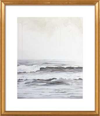 "Ocean Air - 20"" x 24"" - Gold leaf wood frame with mat - Artfully Walls"