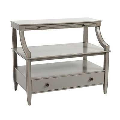 Sidney Open Side Table - Gray - Ballard Designs