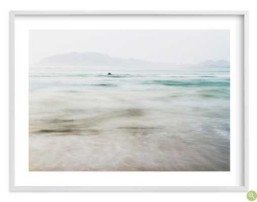 "The Pacific - white wood frame - White Border - 40""x30"" - Minted"