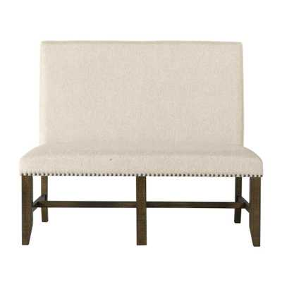 Francis Chesnut Upholstered Bench - Home Depot