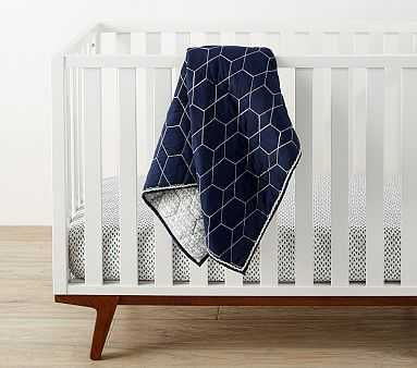 west elm x pbk Honeycomb Toddler Quilt, Nightshade - Pottery Barn Kids