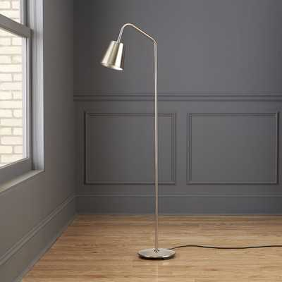 Crane Nickel Floor Lamp - CB2