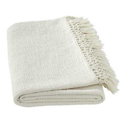 Slubby Tassel Fringe Throw - Ballard Designs