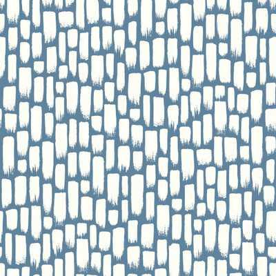 Risky Business 2 Sumi-E Removable Wallpaper, blue - Home Depot