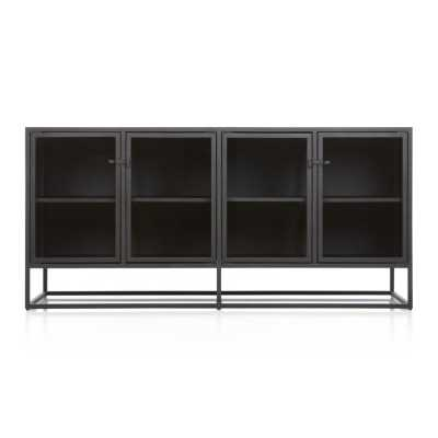 Casement Black Large Sideboard - restock June 2021 - Crate and Barrel