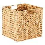 Large Water Hyacinth Cube Natural - containerstore.com