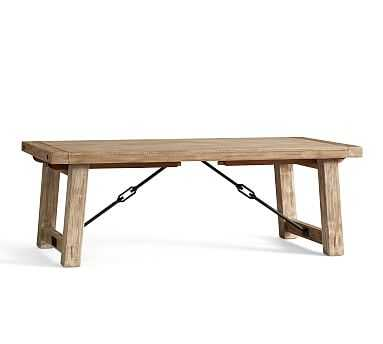 "Benchwright Extending Dining Table, Large 86"" - 122"" L , Seadrift - Pottery Barn"