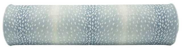 Antelope Linen Print // Spa Blue King Bolster Pillow - Little Design Company