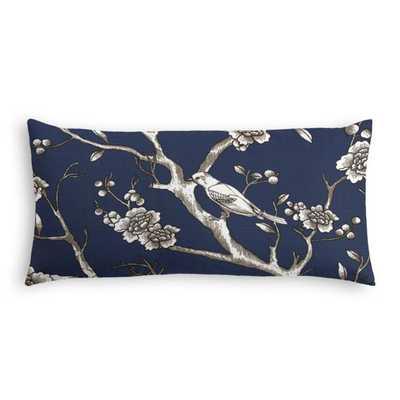 Lumbar Pillow  Vintage Blossom - Twilight, Poly Insert - Loom Decor