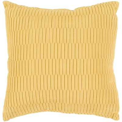 Gordon Poly Euro Pillow, Yellow - Home Depot