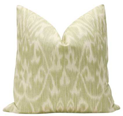 """French Ikat Print // Spanish Moss Pillow, 18"""" Pillow Cover - Little Design Company"""