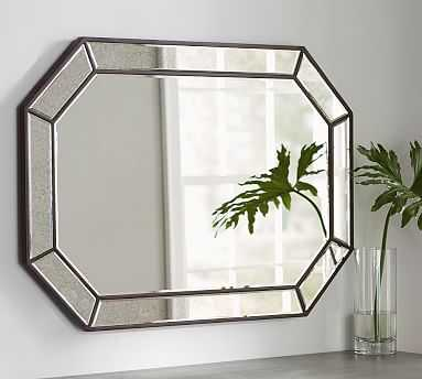 Nora Pieced Antiqued Mirror, Bronze - Pottery Barn