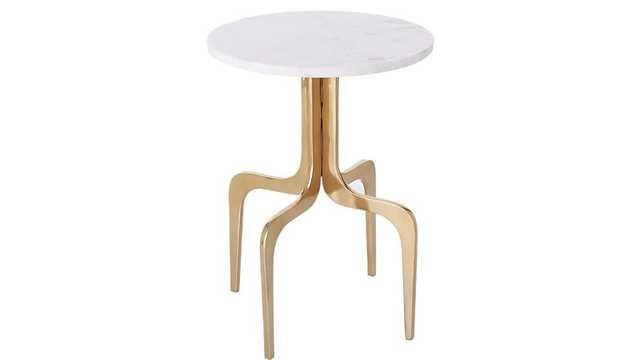 dorset marble side table - CB2