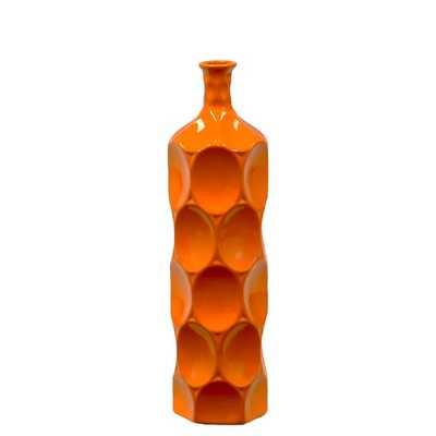 Medium Orange 18-inch Ceramic Bottle - Overstock