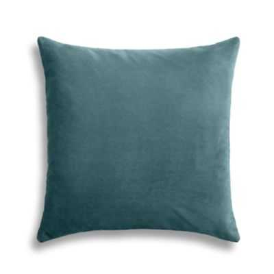 "Dark teal velvet throw pillow - 18"" x 18"" - Poly Insert - Loom Decor"