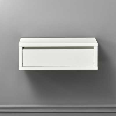 slice white wall mounted storage shelf - CB2