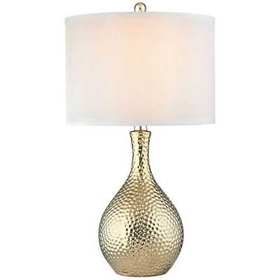 Dimond Soleil Gold Plate Hammered Ceramic Table Lamp - Lamps Plus