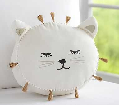 The Emily & Meritt Sleepy Kitty Pillow - Pottery Barn Kids