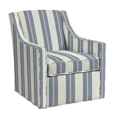 Carlyle Swivel Chair -Bal Harbour Navy Sunbrella® Performance	 - Ballard Designs