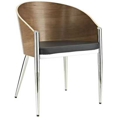 COOPER DINING WOOD ARMCHAIR IN SILVER - Modway Furniture