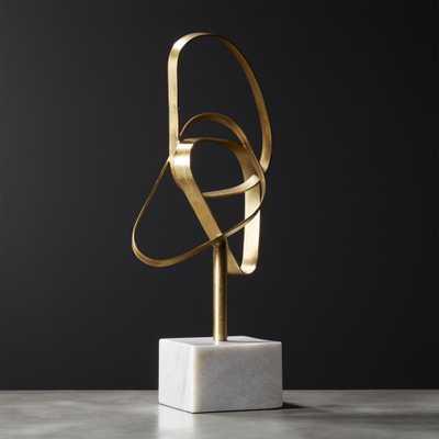 Standing Infinity Brass Knot Sculpture - CB2