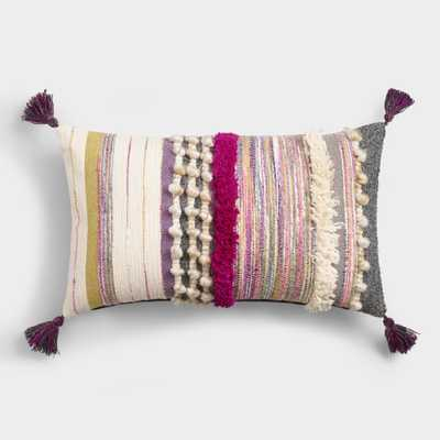 Oversized Multicolor Bouche Lumbar Pillow by World Market - World Market/Cost Plus