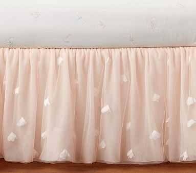 Monique Lhuillier Ethereal Tulle Crib Skirt, Blush Pink - Pottery Barn Kids