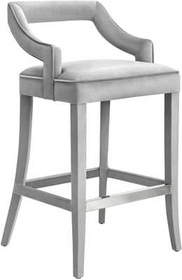 Taylor Morgan Velvet Counter Stool - Maren Home