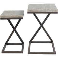 Elder Accent Table - Set of 2 - Neva Home