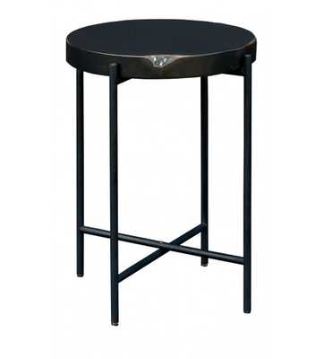 MARTINE SIDE TABLE, MATTE BLACK - Lulu and Georgia
