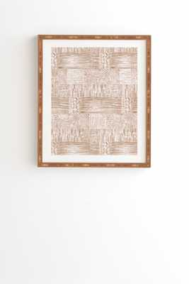 Woven Line Framed Wall Art 14x16.5 - Wander Print Co.