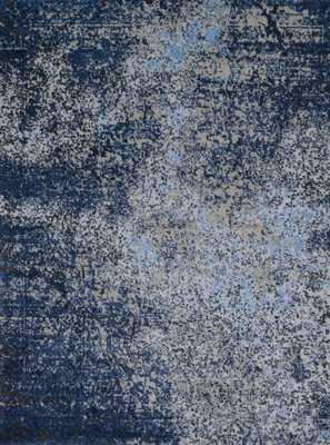 VIERA Rug GREY / NAVY 9  x 12 - Loma Threads
