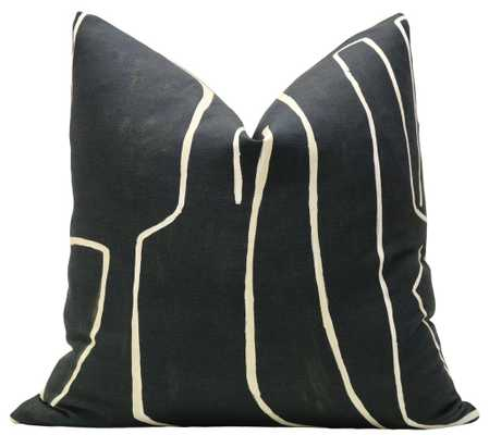 "Graffito // Onyx + Beige, 20"" Pillow Cover - Little Design Company"