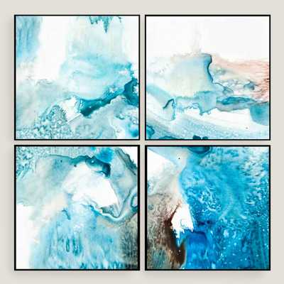 Abstract Blues Wall Art Set of Four by World Market - World Market/Cost Plus