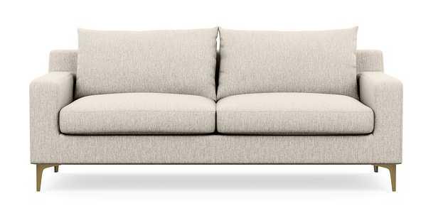 "Sloan Sofa, 83"", Wheat Cross Weave, Sloan L Leg Brass Plated - Interior Define"