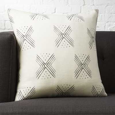 """20"""" fini pillow with feather-down insert - CB2"""