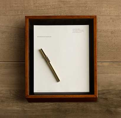 ARTISAN LEATHER LETTER TRAY - RH