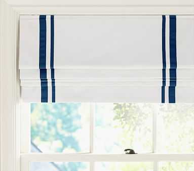 "Harper Roman Shade 44 x 64"" Panel, Navy - Pottery Barn Kids"