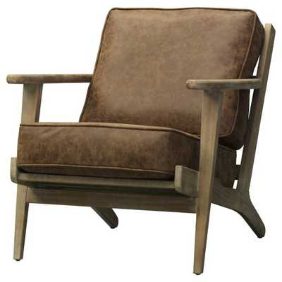 New Pacific Direct Inc Albert Leather Accent Chair - Hayneedle