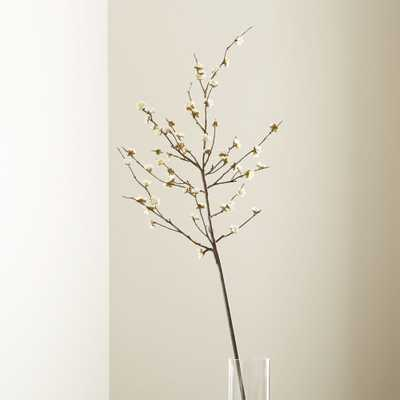 White Cherry Blossom Flower Branch - Crate and Barrel