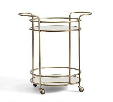 Tristan Meta Bar Cart, Brass finish - Pottery Barn
