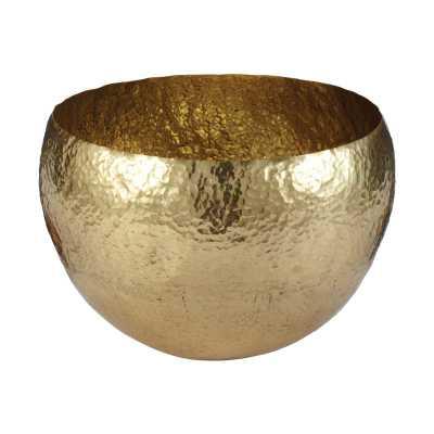 Gold Hammered Brass Bowl - lg - Rosen Studio