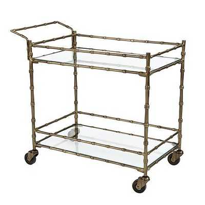 Jill Bar Cart - Antique Gold - Ballard Designs
