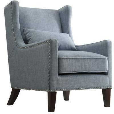 Jeannette Wingback Arm Chair - Blue - Wayfair