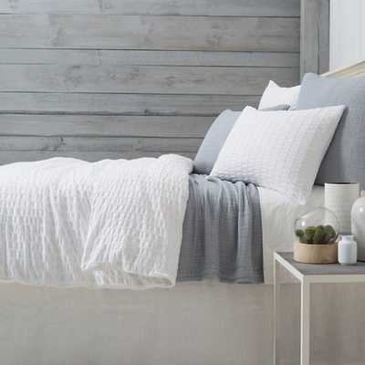 TIDAL WHITE DUVET COVER - KING - Pine Cone Hill