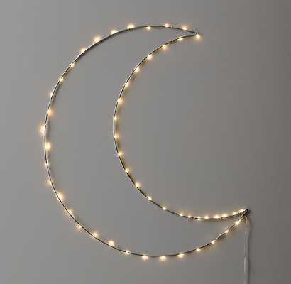 STARRY LIGHT WALL DÉCOR - MOON - RH Baby & Child