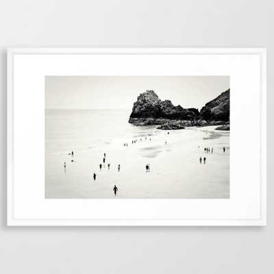 "Cornwall beach life Art Print - 26""x 38"" Vector White Frame - Society6"