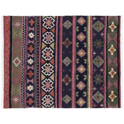 Izzy Multicolor Patterned Shag Rug 8'x10' - CB2