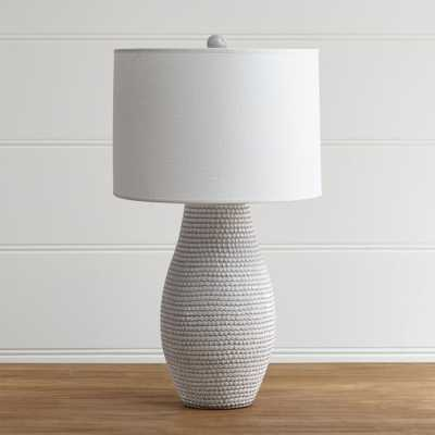 Cane White Table Lamp - Crate and Barrel